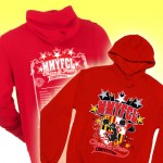MMYFCL Competition red MD. Hooded Sweatshirt with team names on back