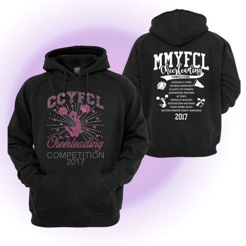 2017 MMYFCL Custom Competition Rhinestone Hooded sweatshirt  black