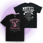 MMYFCL 2017 black Cheer & Pom Rhinestone short sleeve t-shirt