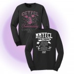 MMYFCL 2017 Black Cheer & Pom Rhinestone long sleeve t-shirt