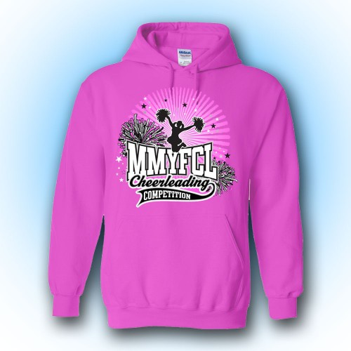 MMYFCL Pink Competition Hooded Sweatshirt ( team names on back)