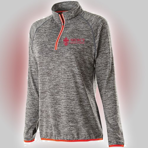 Mercy Ladies Force Training top with Mercy High School embroidery