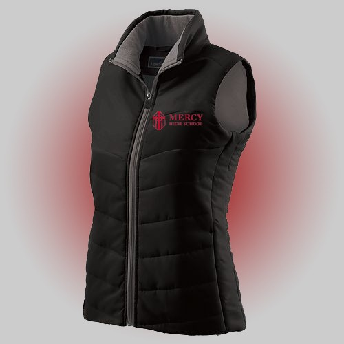 Mercy High School Ladies Black vest with embroidery