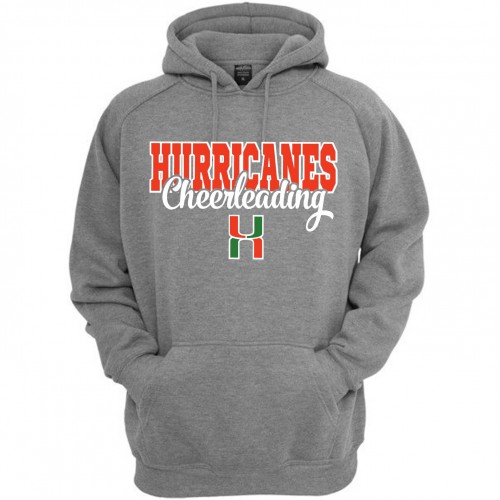 Hurricane Hooded practice sweatshirt Gray
