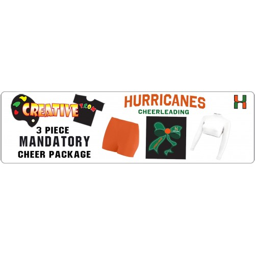 * HURRICANES 3 PIECE PACKAGE - MANDATORY *  (CROP TOP, SPANDEX, BOW INCLUDED)