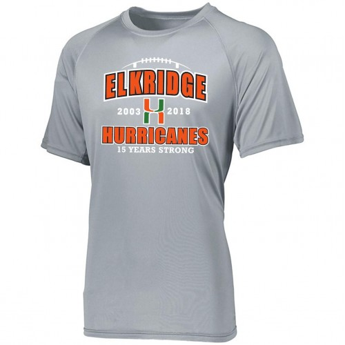 Elkridge Hurricanes Anniversary Gray Performance Tee