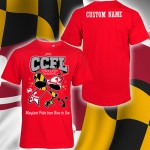 CCFL 2016 Red Cheer & Pom t-Shirt  with Custom Lettering on Back