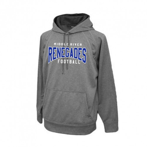 Renegades CARBONITE GREY PREMIUM Fleece Football Hoody