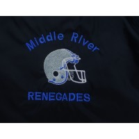 Renegades Classic Black Embroidered Football Pullover 2