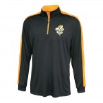 Tech Graphics Unisex Black and gold quarter zip pullover