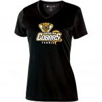Harford Tech Tennis Ladies black performance v-neck
