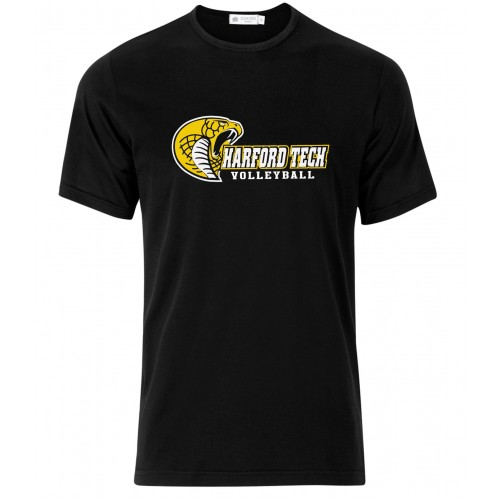 Harford Tech Volleyball Mens Classic black performance tee
