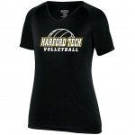 Harford Tech Volleyball ladies black performance tee