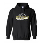 Harford Tech Volleyball Hooded Black Sweatshirt 2