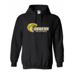 Harford Tech Volleyball Hooded Black Sweatshirt