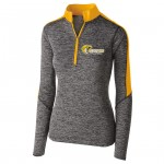 Harford Tech Volleyball Ladies quarter Zip Electrify Gold/Heather