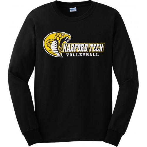 Harford Tech Volleyball Black Long Sleeve tee