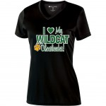 Westminster Wildcats Ladies Black Performance v-neck tee