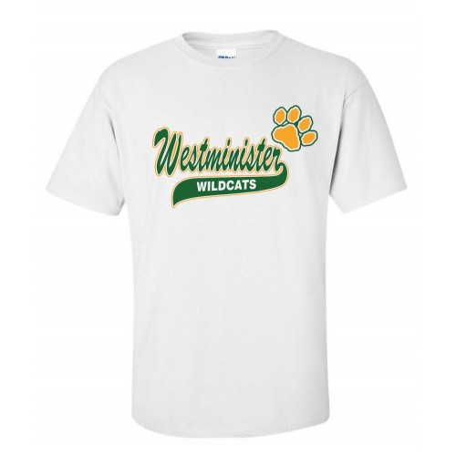 Westminister Wildcats Cheer T-shirt 2 ( white)