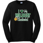"Westminster Wildcats Long Sleeve Tee"" I Love My Wildcat Cheerleader!"""