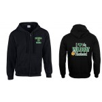 "Westminster Wildcats full zip hooded Sweatshirt "" I Love My Wildcats Cheerleader"""