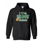 "Westminster Wildcats Sweatshirt "" I Love My Wildcat Cheerleader!"""