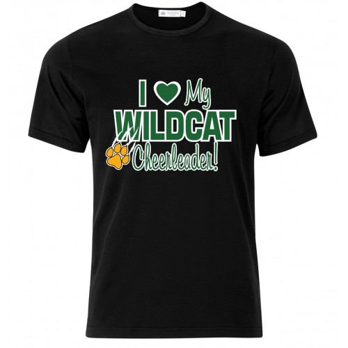 "Westminister Wildcats Tee "" I Love My Wildcat Cheerleader!"""