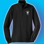 White Marsh Ballet 1/4 zip embroidered Ladies pullover