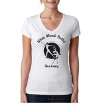 White Marsh Ballet V-Neck tee Design