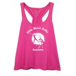 White Marsh Ballet  Scrunchie Tank ( Hot Pink) FRONT PRINT