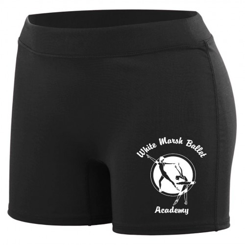 White Marsh Ballet Black Spandex Short