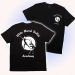 White Marsh Ballet logo t-shirt Black ( front & back print)