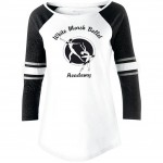 White Marsh Ballet 3/4 sleeve Loyalty fan shirt White with shimmer sleeves