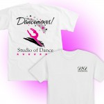 Dancemoves logo t-shirt white ( front & back print)