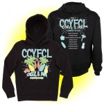 CCFL 2017 Black Cheer & Pom Competition Hooded Sweatshirt with team names