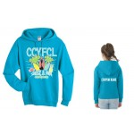 CCFL 2017 California Blue Cheer & Pom  Competition Hooded Sweatshirt with Custom Lettering on Back