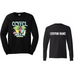 CCYFCL 2017 Black Cheer & Pom Competition long sleeve t-shirt with Custom Lettering on Back