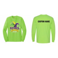 CCYFCL 2018 Lime Green Cheer & Pom Competition Long Sleeve t-shirt with Custom name on back