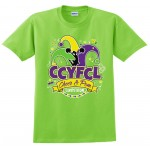 CCYFCL 2018 Lime Green  Cheer & Pom Competition t-shirt with Custom Lettering on Back