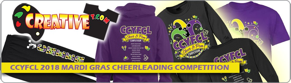 CCYFCL 2018 Mardi Gras Cheer & Pom Competition