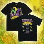 *CCYFCL 2018 Mardi Gras Cheer & Pom black t-Shirt  with team names on back