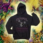 CCYFCL 2018 Mardi Gras Rhinestone black Competition Hooded Sweatshirt