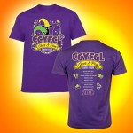 CCYFCL 2018 Cheer & Pom Purple t-Shirt  with team names on back