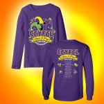 CCYFCL 2018  Cheer & Pom purple Competition Long Sleeve t-shirt with team names