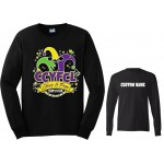 CCFL 2018  Black Cheer & Pom Competition Long Sleeve t-shirt w/ CUSTOM LETTERING