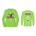 CCYFCL 2018 Lime Green Cheer & Pom Competition Long Sleeve t-shirt with team names