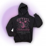 CCFL 2017 Black Rhinestone Competition Hooded Sweatshirt