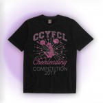 CCYFCL 2017 Black Cheer & Pom Rhinestone Competition t-shirt