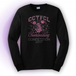 CCYFCL 2017 Black Cheer & Pom Rhinestone long sleeve t-shirt