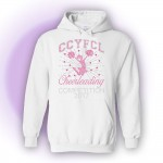 CCFL 2017 White Rhinestone Competition Hooded Sweatshirt